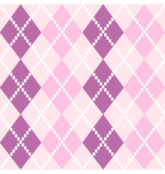 Seamless Argyle Pattern in pastel colors vector image