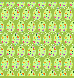 seamless pattern of multicolored rough skin easter vector image