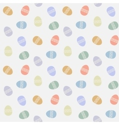 seamless pattern with abstract easter eggs vector image