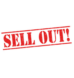 sell out sign or stamp vector image