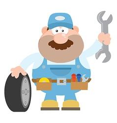 Smiling Mechanic Cartoon vector