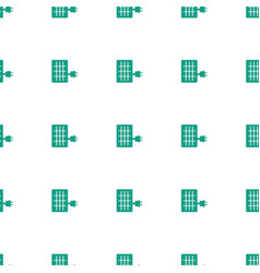 Solar panel icon pattern seamless white background vector