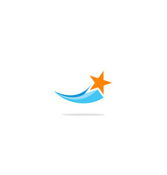 star fly logo vector image