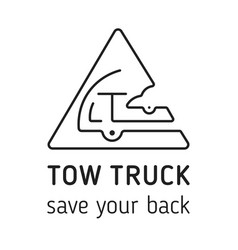 towing truck icon towing truck icon vector image