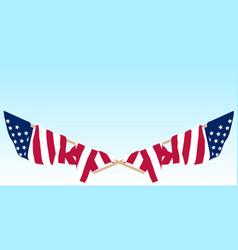 us flag crossed vector image