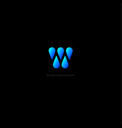 water logo monogram vector image