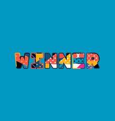 Winner concept word art vector