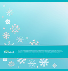 winter blue background with white snowflakes vector image