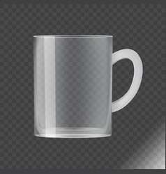 blank transparent glass cup vector image vector image
