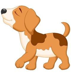 Dog cartoon walking vector image vector image
