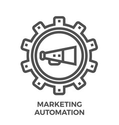 marketing automation icon vector image