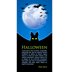 Moon and bats document template vector image
