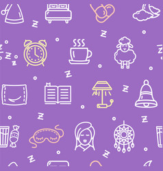 sleeping and insomnia pattern background concept vector image