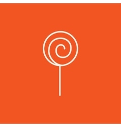 Spiral lollipop line icon vector image vector image