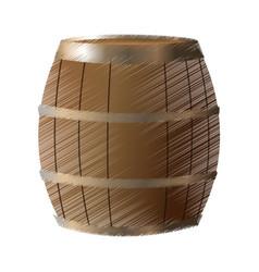 wooden barrel icon image vector image vector image