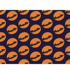 Bat on background of full moon vector image