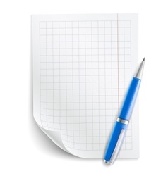 Blank sheet of paper with vector image vector image