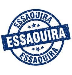 Essaouira blue round grunge stamp vector