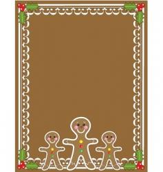 gingerbread man border vector image vector image