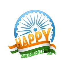 India independence day badge 15th of august vector image