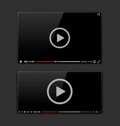 modern video frame video player interface mokup vector image