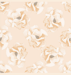 seamless background with watercolor roses vector image vector image