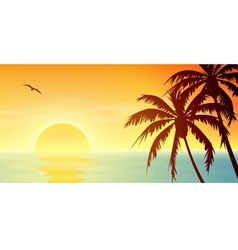Tropical Sunset vector image vector image