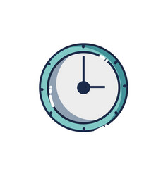 wall circle clock object design vector image vector image