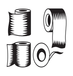 Toilet paper icon8 resize vector image vector image