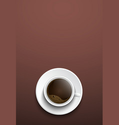 Design coffee banners a top view of a cup of vector image
