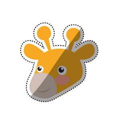 giraffe cartoon head childish vector image