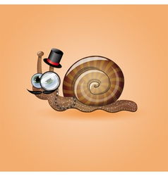 Isolated funny male snail vector image vector image