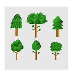 set design variety trees vector image