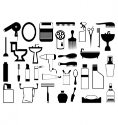 subjects from a bathroom vector image