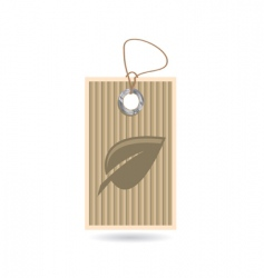 tag with leaf vector image vector image