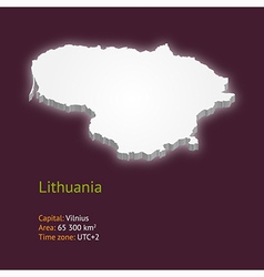 3d map of Lithuania vector