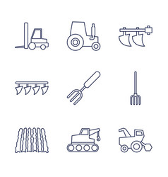 9 farmer icons vector