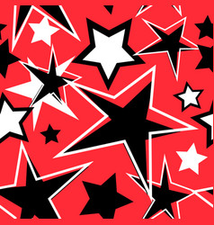 Abstract avant-garde background stars vector
