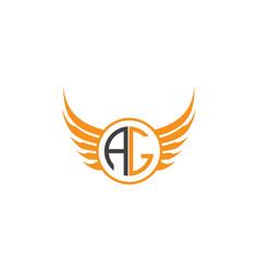 Ag-letter-logo-design vector