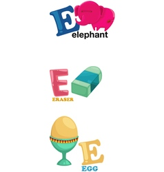 Alphabet letter - E vector