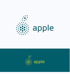 Apple dots company logo vector
