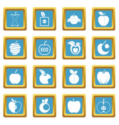 apple icons azure vector image