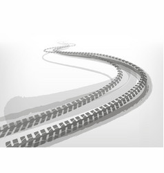 Automotive tire tracks vector