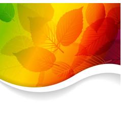Autumn abstract rainbow floral background vector