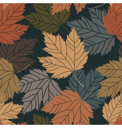 Beautiful vintage tree leaves seamless vector