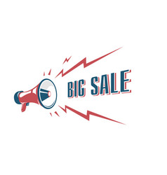 big sale sign with retro megaphone vintage vector image