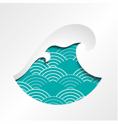 big wave symbol icon vector image