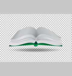 book on transparent background paper art style vector image