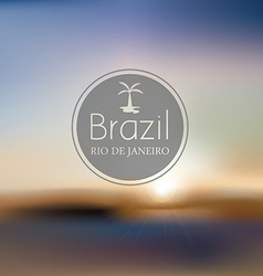 Brazil beach blurry landscape vector