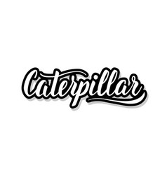 Caterpillar calligraphy template text for your vector